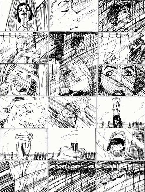 storyboard film psyco