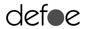 logo defoe bianco e nero